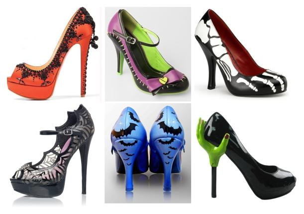 Tuesday Shoesday spooky heels scary shoes for halloween costume 2013