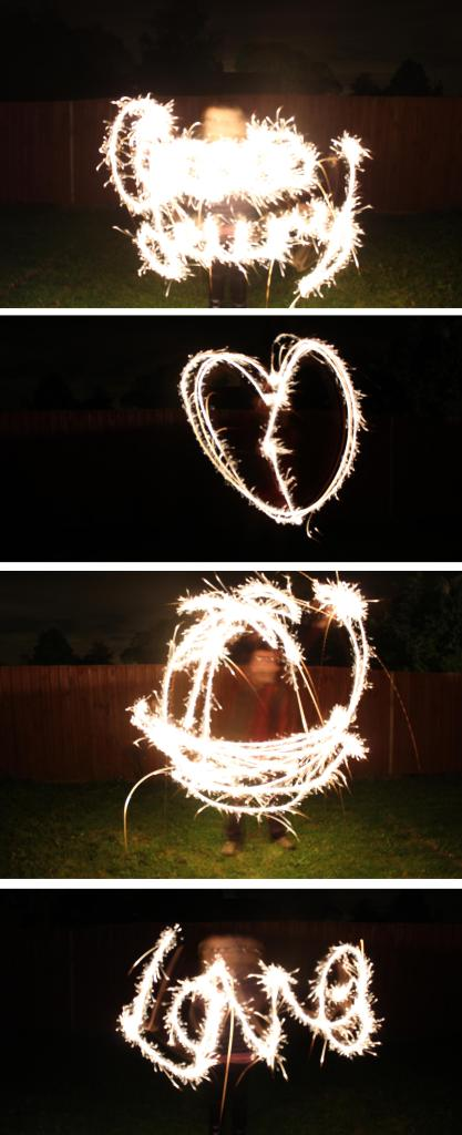 cassiefairy blog writing love hearts with sparklers on bonfire night