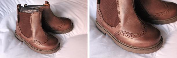 Start rite brown leather digby chelsea boots for toddlers