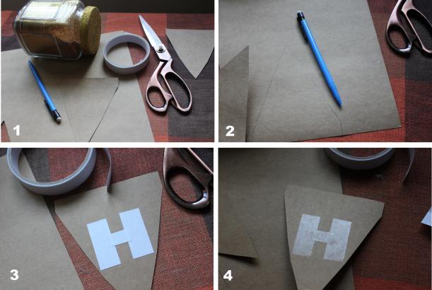 step by step making festive celebration banner