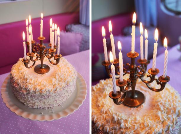pink birthday cake disney princess candelabra