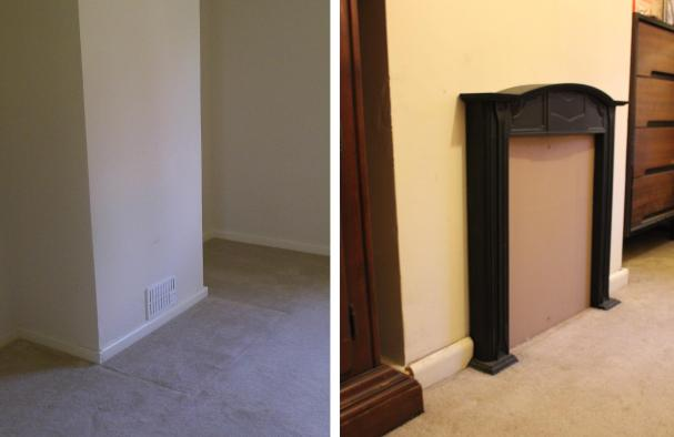 bedroom makeover small cast iron feature fireplace