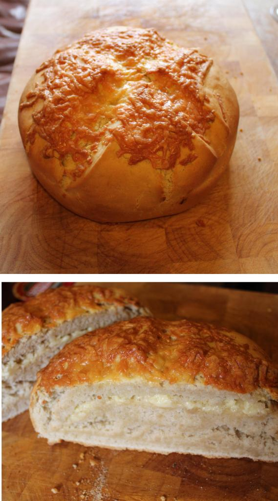 Pieday Friday recipe for baking loaf of cheese bread on Cassiefairy blog