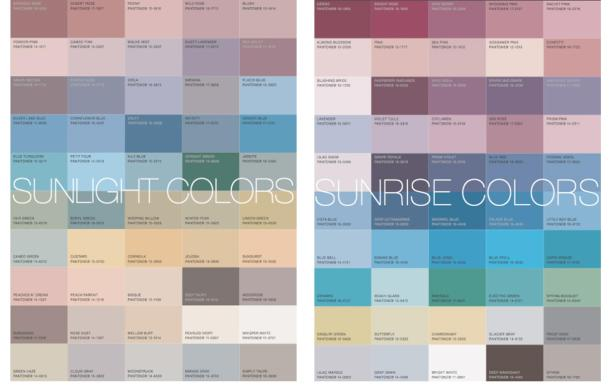 sunlight and sunrise colour analysis
