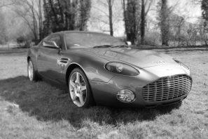 Aston Martin black and white car