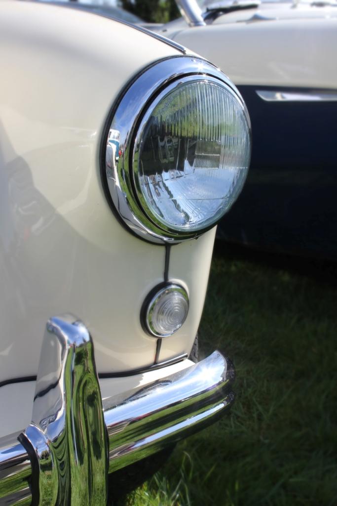 Cream Austin Healey Car Headlamp