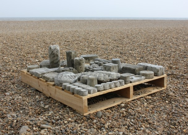 Void landscape of waste packing by Andy Greenacre 2014 aldeburgh beach