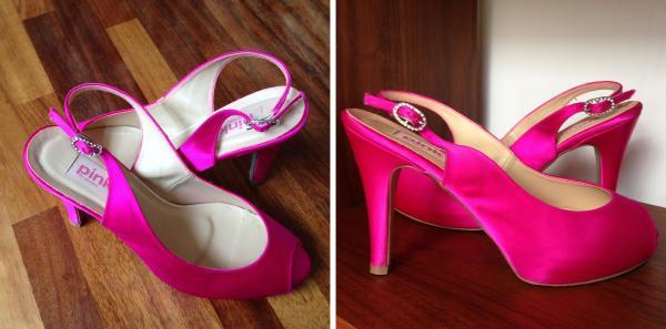 ATTWAH favourite hot pink wedding shoes
