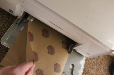 create your own wrapping paper with a printer and envlope