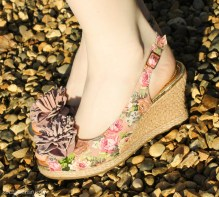 Summer 2014 floral slingback wedges from Hotter Shoes-8