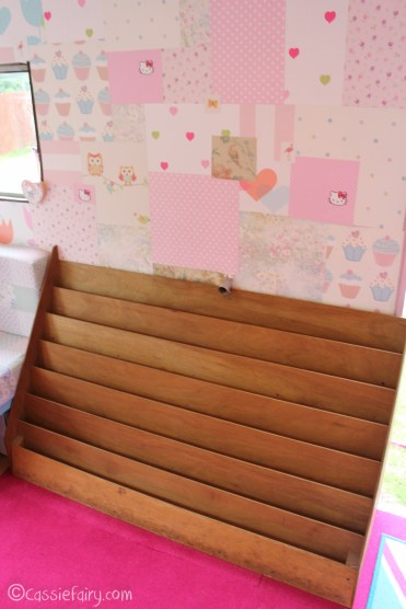 Vintage caravan makeover project on Cassiefairy blog - bookcase ideas-1