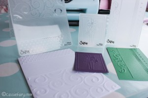 card making craft ideas including Sizzix embossing kit review-20