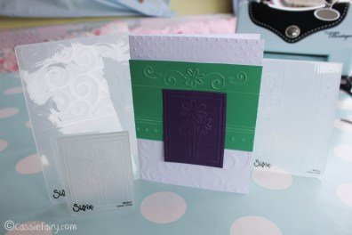 card making craft ideas including Sizzix embossing kit review-21