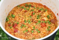 Glamping festival ideas - pieday friday recipe for one-pot campfire cooking - Jambalaya-7