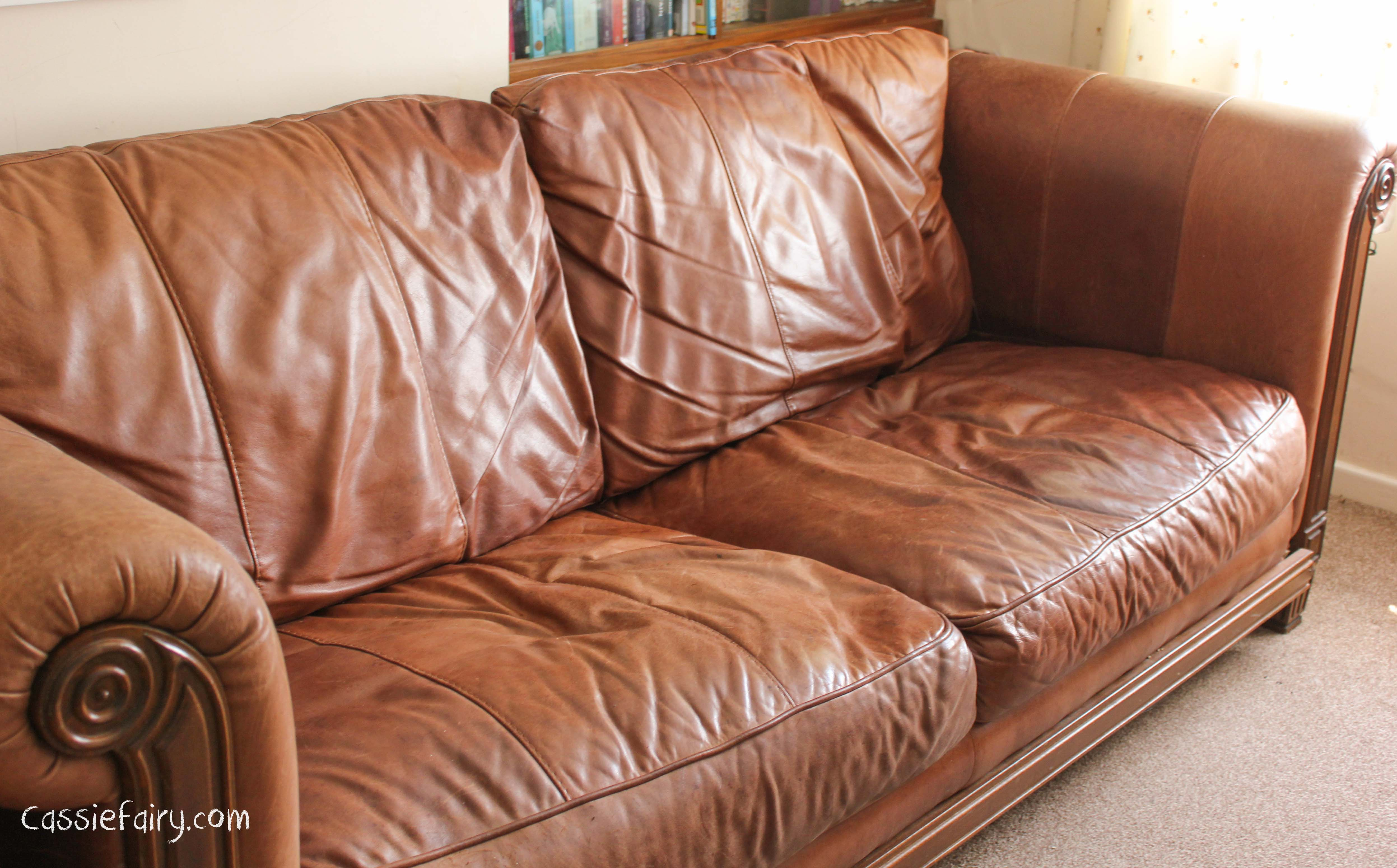 reupholster leather sofa diy suppliers manchester ideas to spruce up your old cassiefairy my