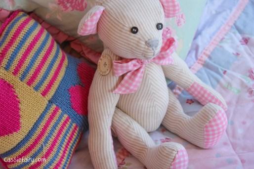 DIY sew your own teddy bear christening gift