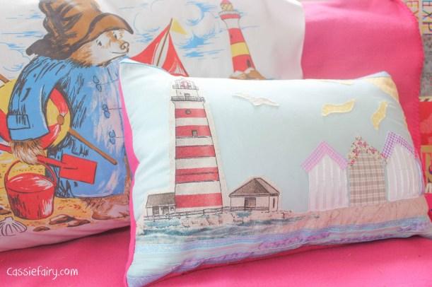 Retro Paddington Bear pillow slip cushion cover