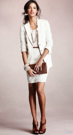 Women's Business Fashion Trends White