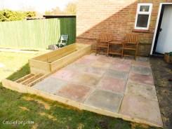 how to build a terraced patio garden-9