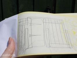sketch plan for garden gate