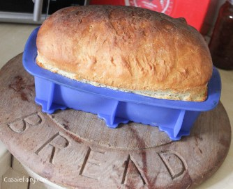 Easy recipe for baking a loaf of white bread