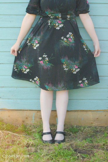 great sewing tips for shortening a vintage dress-3
