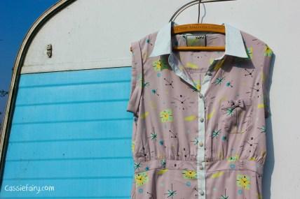 space age pattern retro dress-1