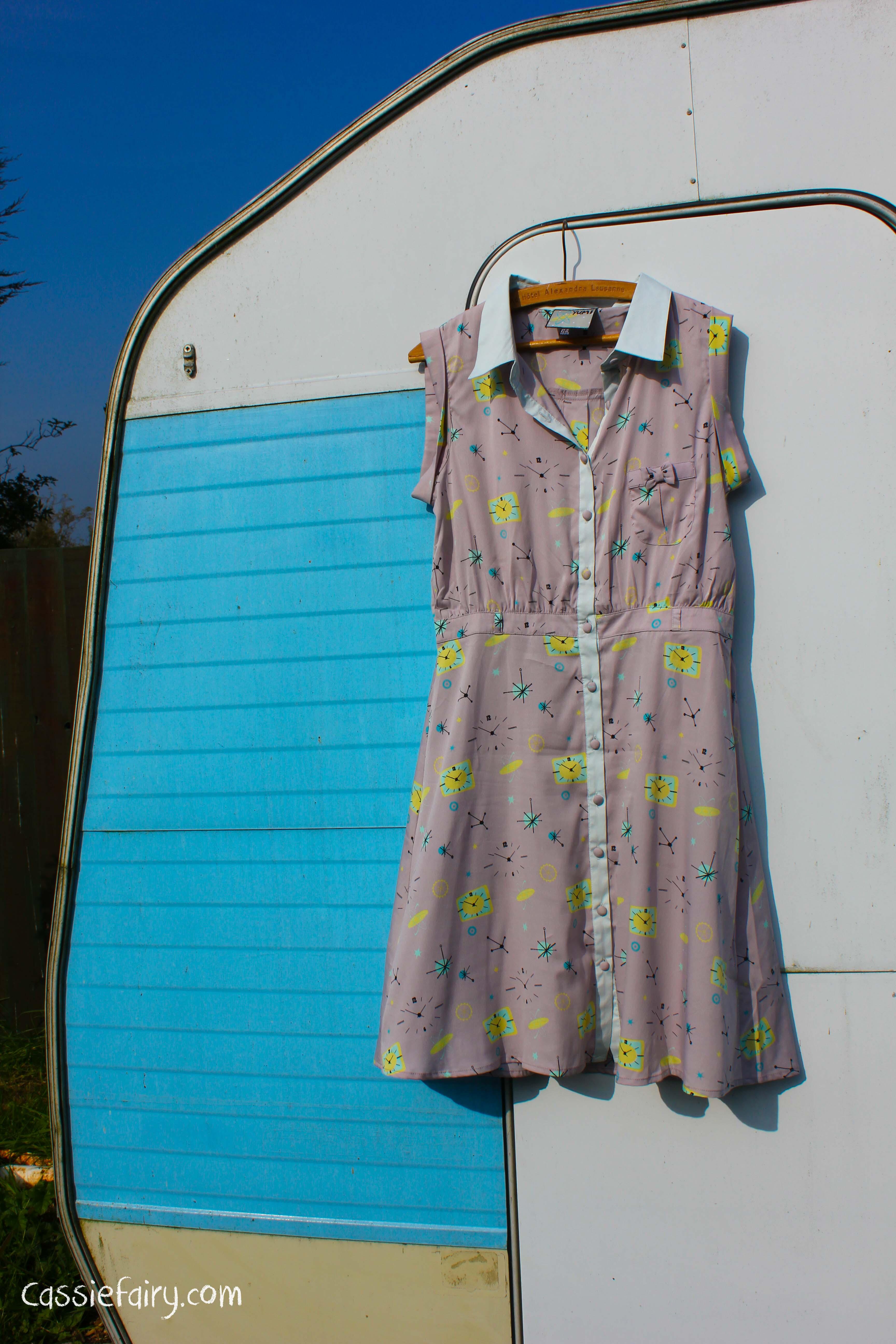 space age pattern retro dress-3