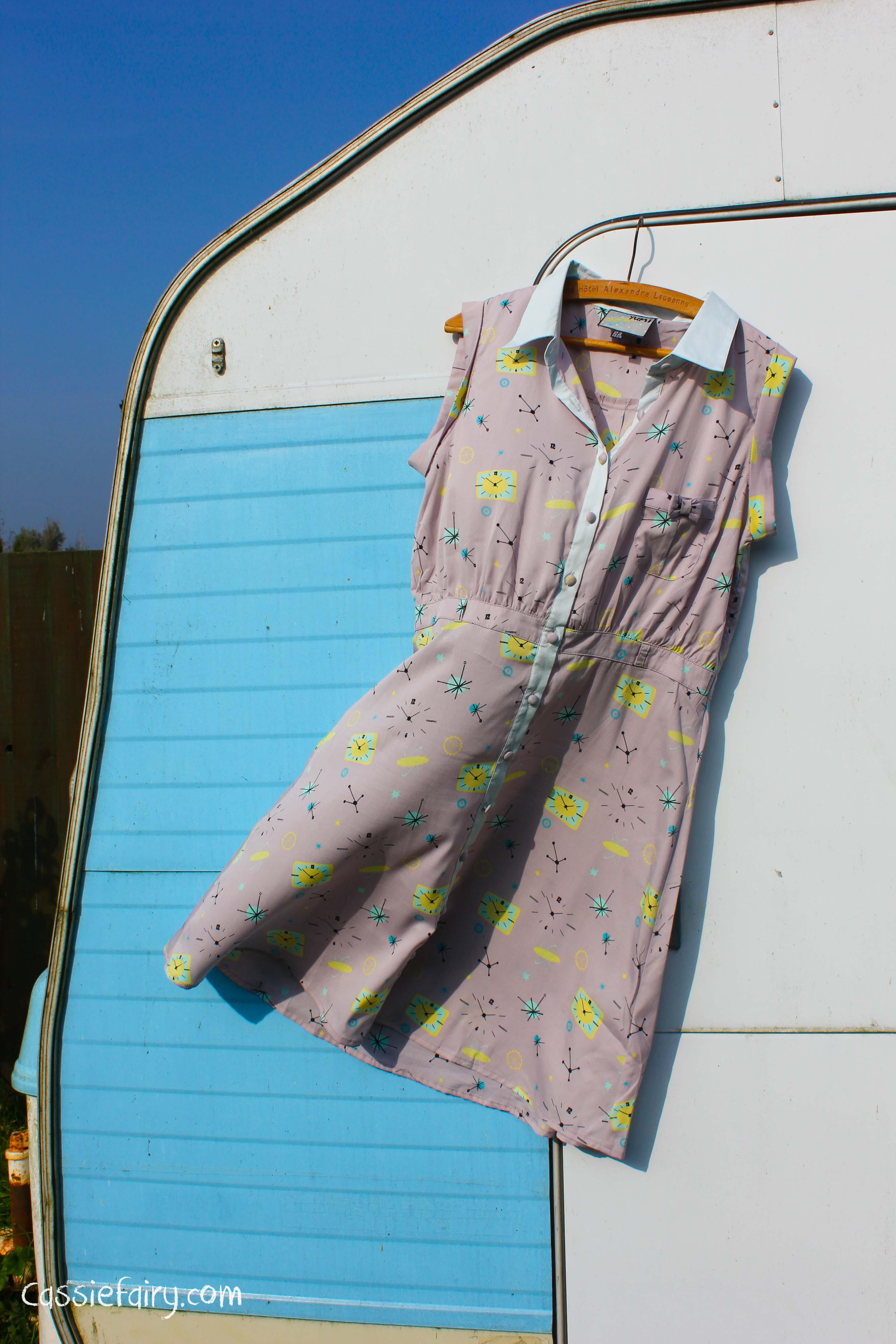 space age pattern retro dress-4