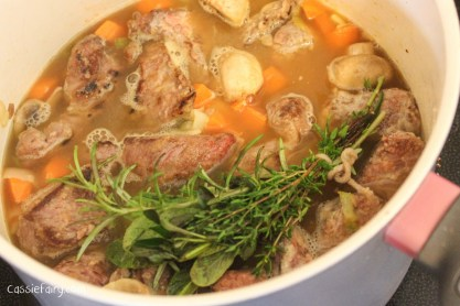 using seasonal vegetables in a beef and ale pie-5