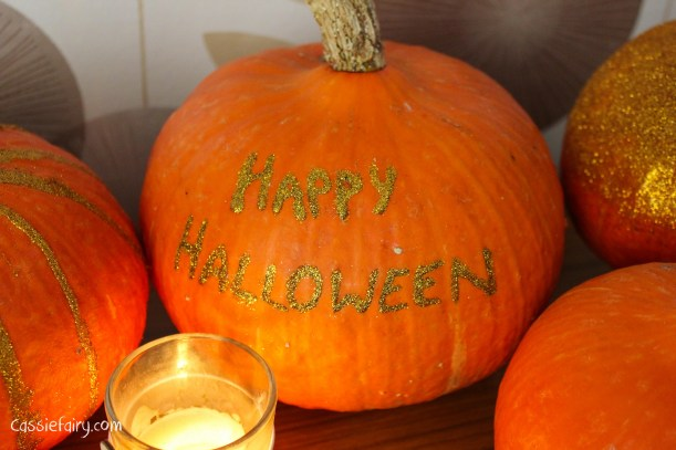 DIY glitter pumpkins for halloween - step by step tutorial-11
