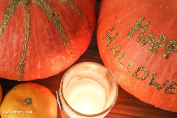 DIY glitter pumpkins for halloween - step by step tutorial-6