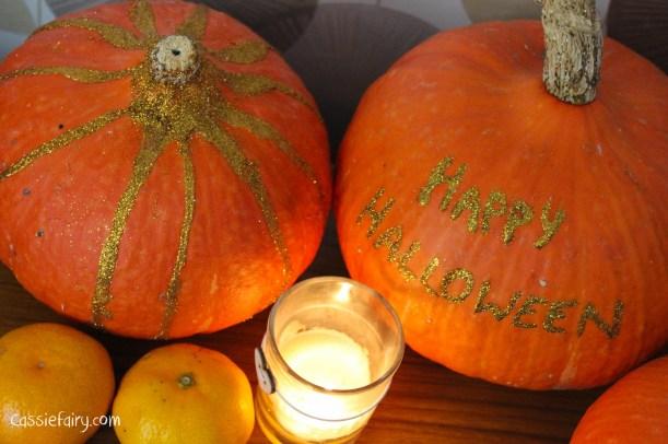 DIY glitter pumpkins for halloween - step by step tutorial-7