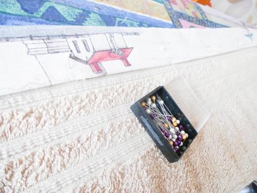 DIY sewing bias binding project for bathroom towels-6