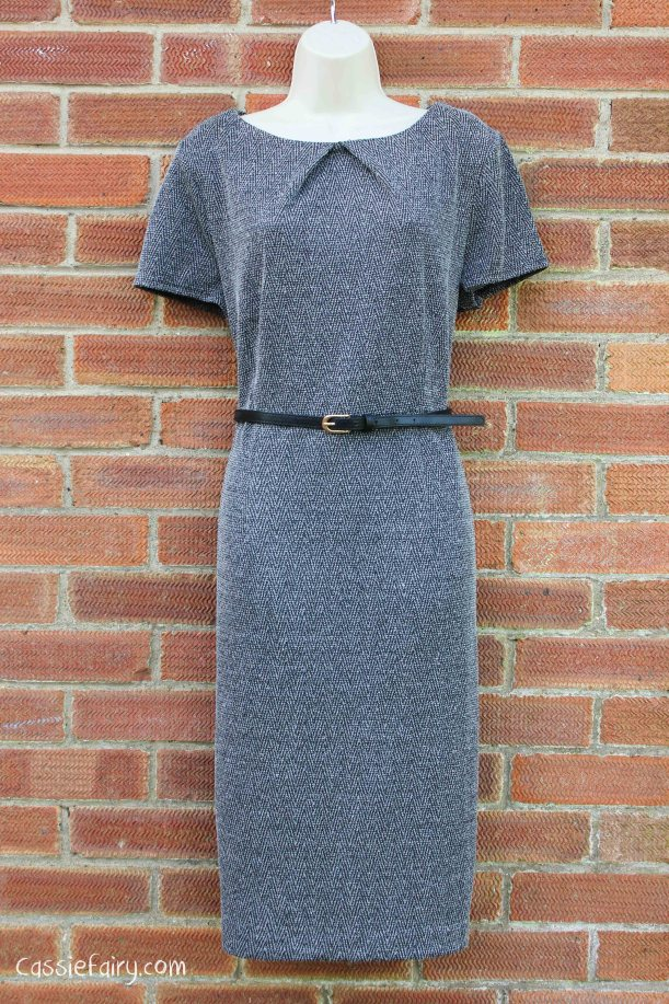 David Emanuel tweed dress styled 4 ways
