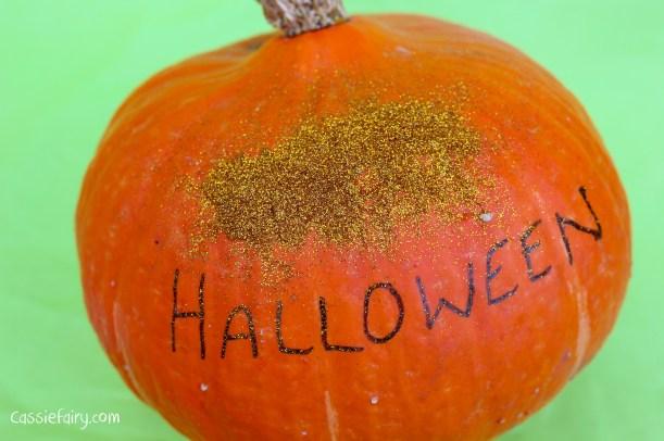 happy halloween DIY glitter pumpkins step by step tutorial-10