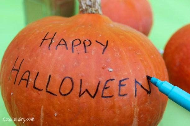 happy halloween DIY glitter pumpkins step by step tutorial-2