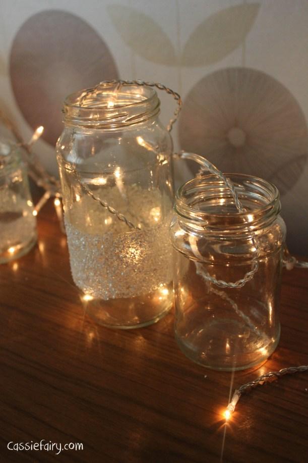 DIY fairy lights kilner jar display for christmas-2