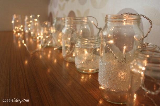 DIY fairy lights kilner jar display for christmas-5