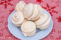Cream Filled Snowball Meringues