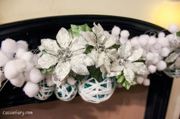 DIY christmas decoration mantlepiece garland ideas-11