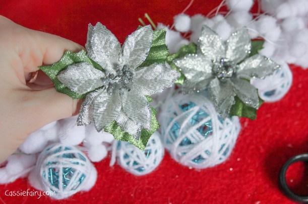 DIY christmas decoration mantlepiece garland ideas-7