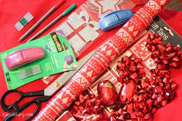 DIY christmas festive gift wrapping