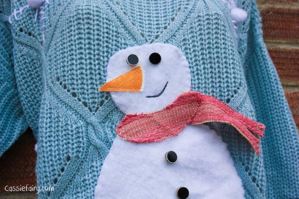 DIY christmas jumper festive snowman-12