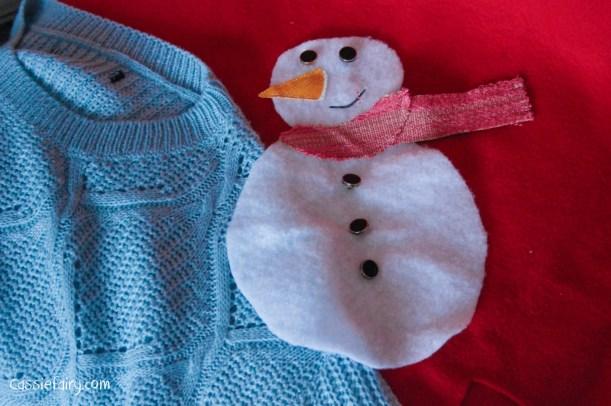 DIY christmas jumper festive snowman-6