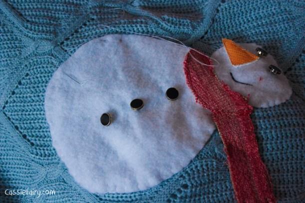 DIY christmas jumper festive snowman-8