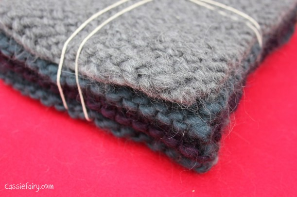 ombre colour block scarf knitting project-14