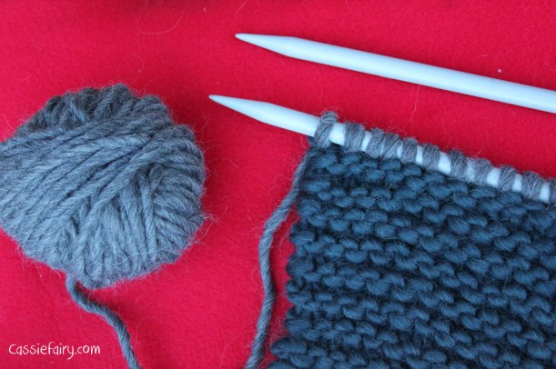 ombre colour block scarf knitting project-5