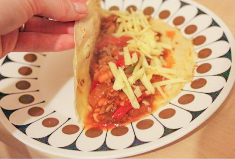 pancake day recipe chilli cheese wraps