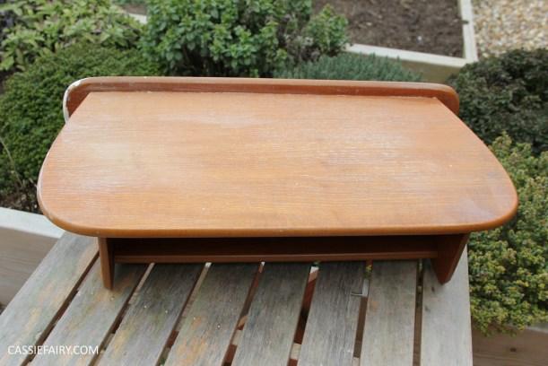 diy furniture makeover project - desk and shelf-13